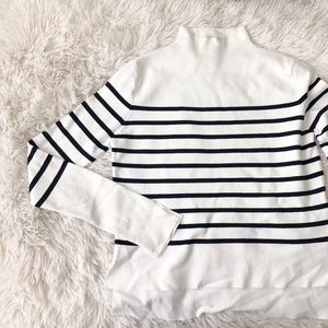 ZARA black and white mock turtleneck long sleeve